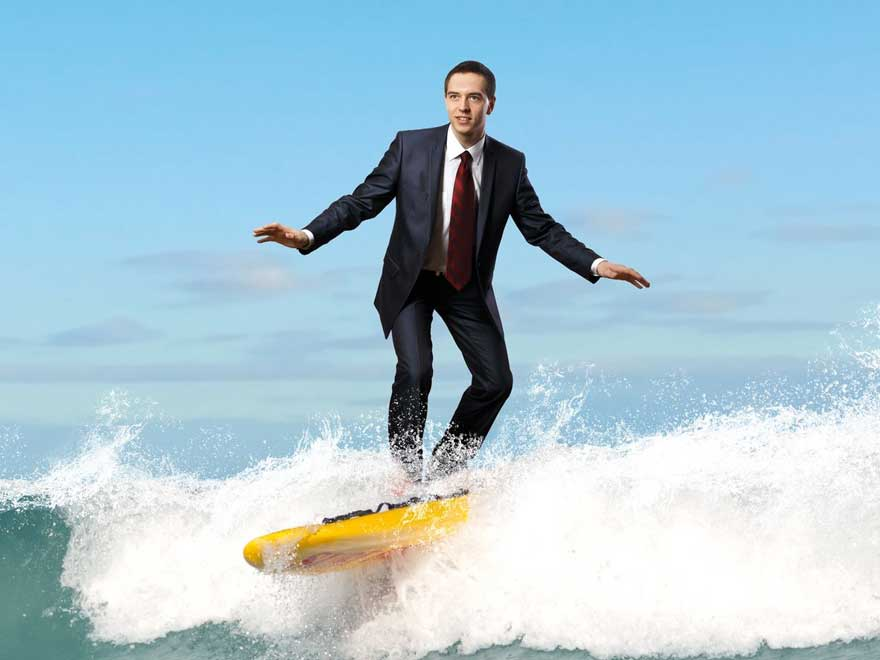 corporate groups surfing