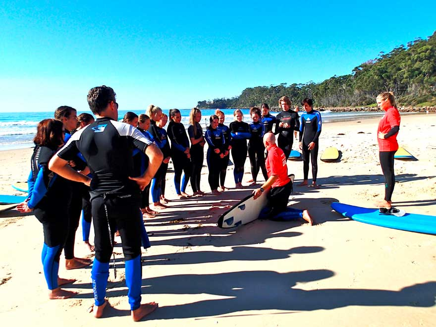 Learn to surf softboards